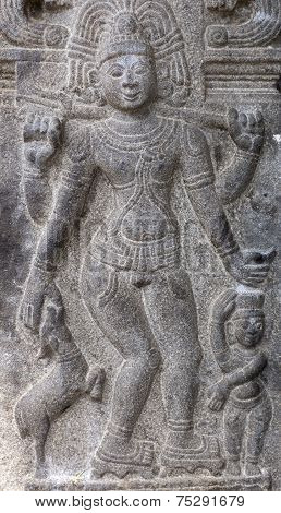 Piksadanar Sculpture At Annamalaiyar Temple In Thiruvannamalai.