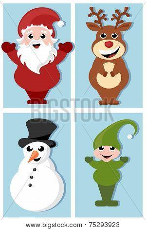 christmas cartoon characters design