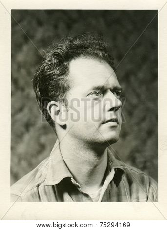 CANADA - CIRCA 1950s: Vintage photo shows studio portrait of a man.