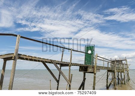 Jetty With Door For Fishing  Gironde Medoc