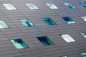 Modern windows mosaic in contemporary modular facade system. poster