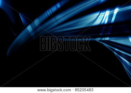 Abstract luxury blue background with flare 3d illustration