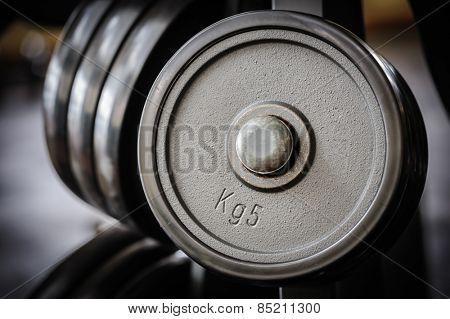 Barbell plates rack