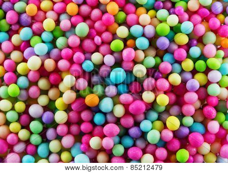 Sugar sprinkle dots decoration for confectionery. High  magnification macro in high resolution.