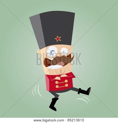 funny Russian Cossack dancer