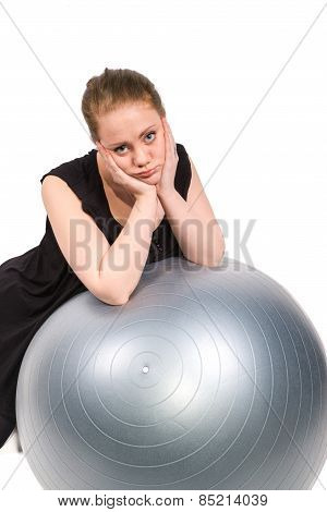 Bored Woman Who Is Unwilling To Exercise