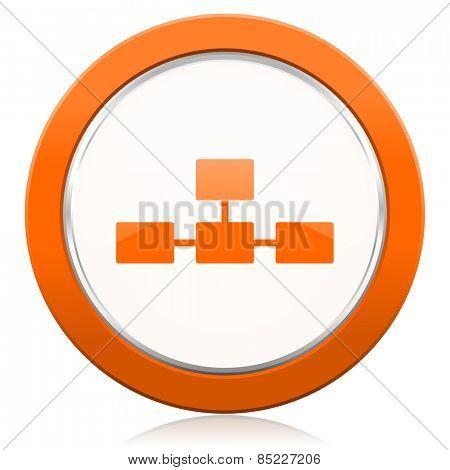 database orange icon