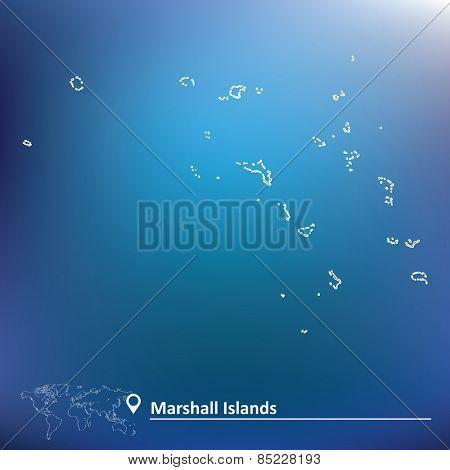 Map of Marshall Islands - vector illustration