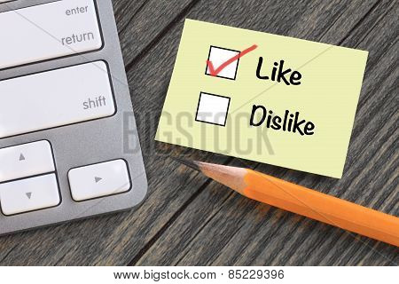 concept of like versus dislike