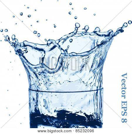 Water splash like crown vector illustration EPS 8.