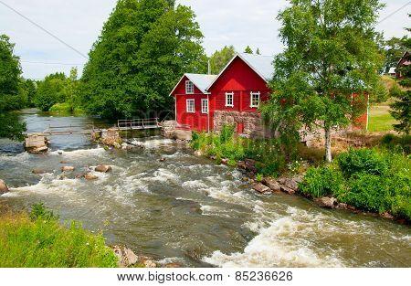 Irjanne, Eurajoki. Finland. Old mill and sawmill