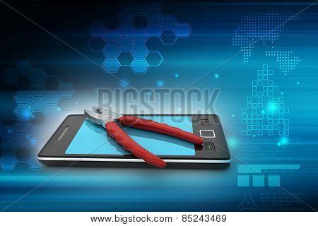 Smart phone repair service concept