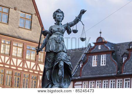 Justitia, A Monument In Frankfurt, Germany