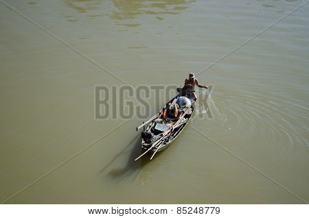Lonely fisherman