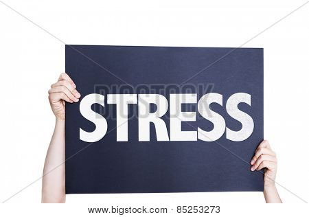 Stress card isolated on white background