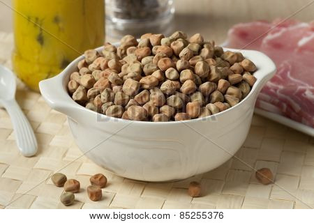 Dried field peas in a bowl for a meal called at Captains dinner