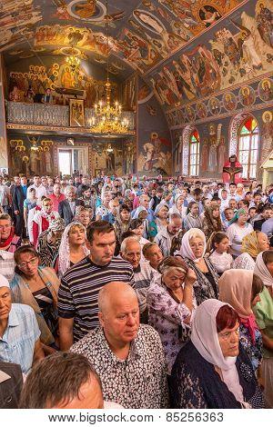 Odessa, Ukraine - September 13: Celebration Of  Orthodox Christian Religious Holiday Icons Of Temple