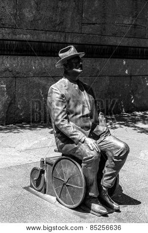 Franklin Delano Roosevelt Memorial in Washington DC USA