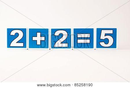 2 Plus 2 Equals 5 Child's Building Block