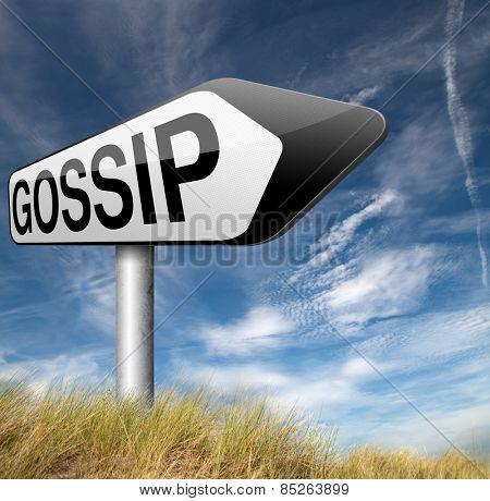 gossip small girl talk and spreading latest rumors