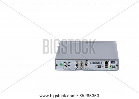 Digital Video Recorder On White Background