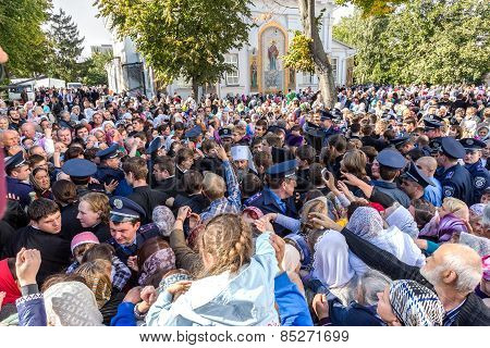 Odessa, Ukraine - September 29: First Visit Of The Rector Of The Ukrainian Orthodox Church Onufry, M