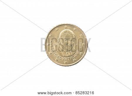 50 Cent Coin Of Vaticano