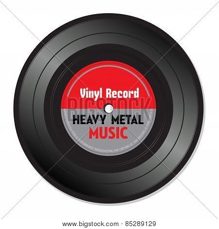 Heavy metal vinyl record