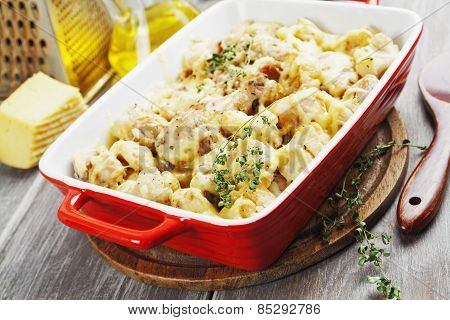 Casserole With Cauliflower And Chicken