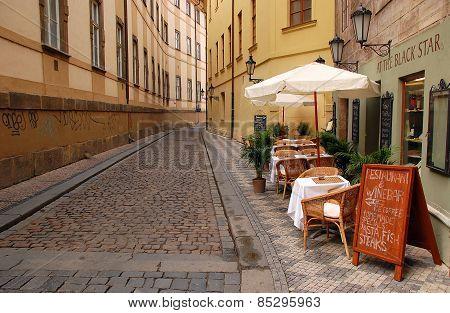 Deserted Street In Prague