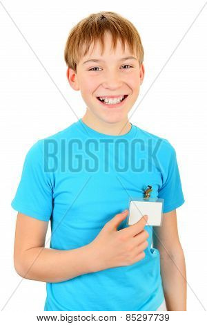 Teenager With A Badge