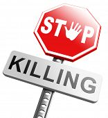 stop killing no guns ban weapons end the war and violence poster