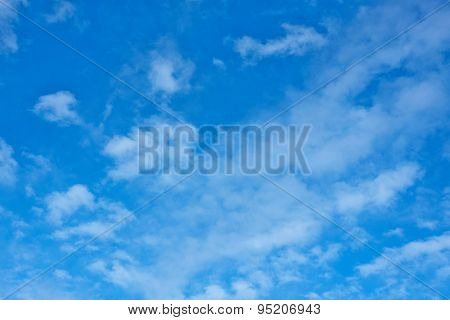 Soft White Clouds In Blue Sky