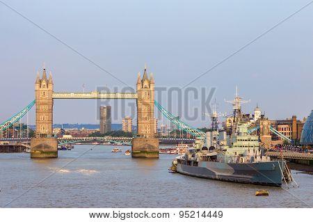 Tower Bridge London Hms Belfast