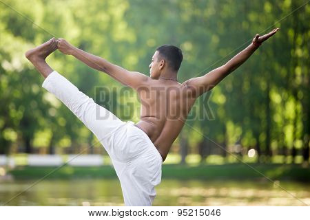 Indian Young Man In Yogic Asana