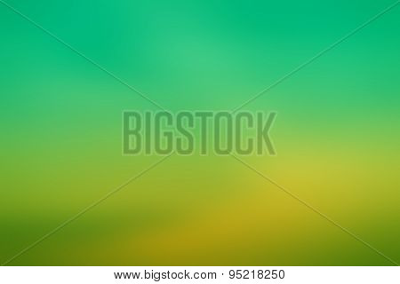 Blur Abstract Gradient Green And  Yellow Green  Background
