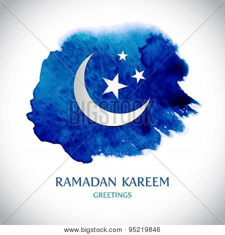 Vector modern Ramadan Kareem greeting card background.