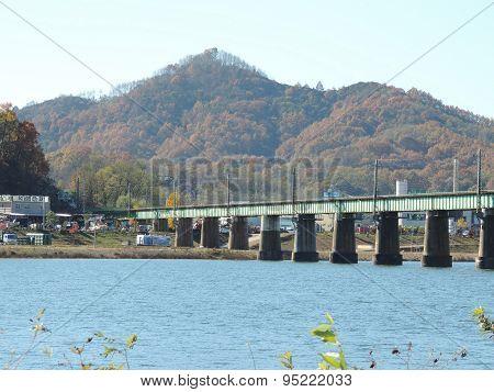 River, Bridge, and Mountain