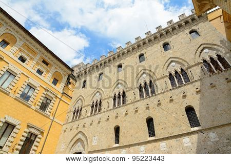 Salimbeni And Tantucci Palaces In Siena