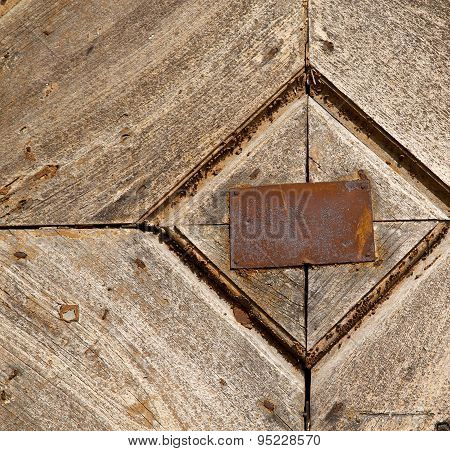 Antonino Abstract Samarate   Rusty Brass Brown Knocker