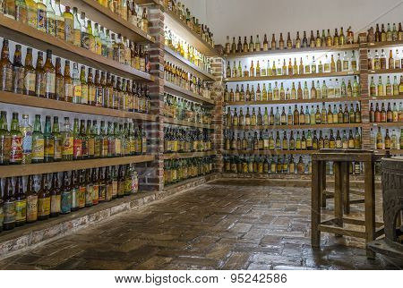 VALE VERDE , BETIM ,BRAZIL- MARCH 14 , 2015 ;Museum of cachaca, the most popular alcohol in Brazil