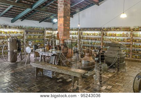 VALE VERDE , BETIM ,BRAZIL- MARCH 14 , 2015 ;Museum of cachaca, the most popular alcohol in Brazil.