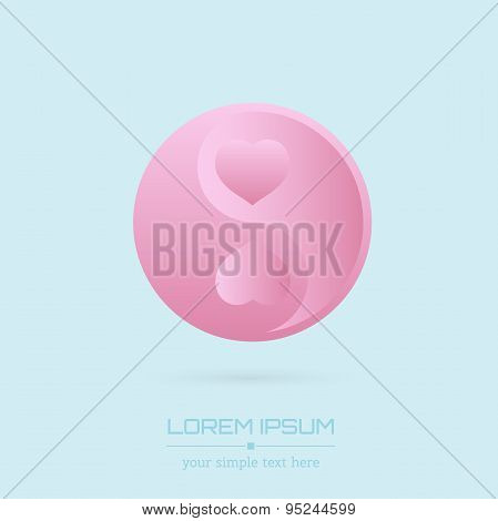 Abstract Creative concept vector visit card of Ying yang for web and mobile applications isolated on