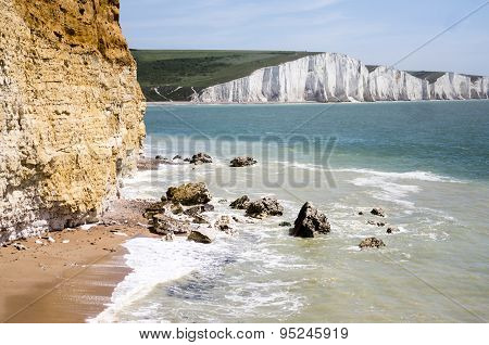 Seven Sisters Country Park in Sussex UK poster