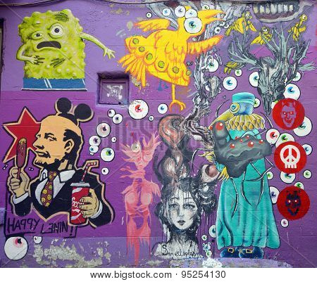 Street art Montreal Lenin
