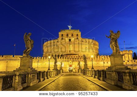 Castel Sant'Angelo in Rome in Italy in Europe poster