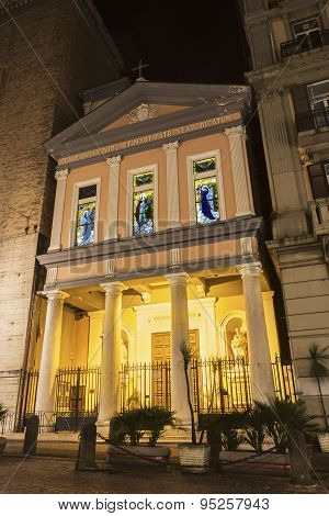 Parrocchia A Santa Lucia A Mare In Naples In Italy