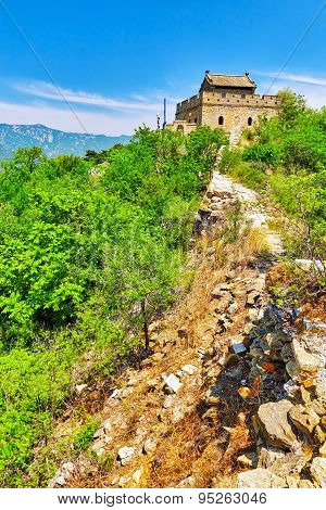 Not Restoration View Of Great Wall Of China, Section