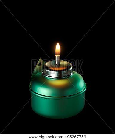 Ramadan Oil Lamp Isolated