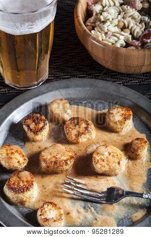 Seared Fennel Coconut Scallops